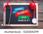 world women's day  march 8th on ... | Shutterstock . vector #520304299