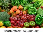 various fresh fruits and... | Shutterstock . vector #520304809