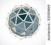 vector dimensional wireframe... | Shutterstock .eps vector #520304869
