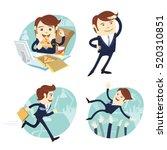 vector illustration funny... | Shutterstock .eps vector #520310851