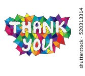 quote thank you in colorful... | Shutterstock .eps vector #520313314