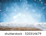 snow background light floor... | Shutterstock . vector #520314679