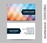 modern business card template | Shutterstock .eps vector #520315861