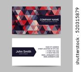modern business card template | Shutterstock .eps vector #520315879