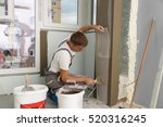 construction worker wearing... | Shutterstock . vector #520316245