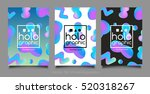 trendy three holographic neon... | Shutterstock .eps vector #520318267