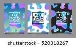 trendy three holographic neon... | Shutterstock .eps vector #520318267