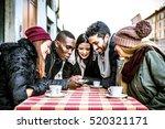 group of multi ethnic friends...   Shutterstock . vector #520321171
