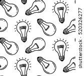 lamp light bulb hand drawn...   Shutterstock .eps vector #520326277