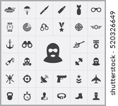 army icons universal set for... | Shutterstock .eps vector #520326649
