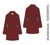classic trench coat vector... | Shutterstock .eps vector #520330441