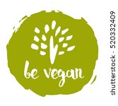 be vegan hand drawn label... | Shutterstock .eps vector #520332409