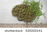 concept of thinking. the green... | Shutterstock . vector #520333141