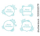 set of christmas and new year... | Shutterstock .eps vector #520333579