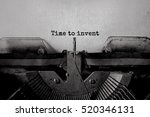 time to invent typed words on a ... | Shutterstock . vector #520346131