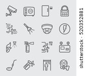 security equipment line icon | Shutterstock .eps vector #520352881