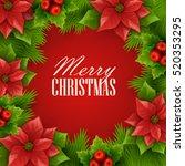 christmas background. vector... | Shutterstock .eps vector #520353295