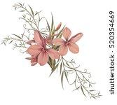 illustration of beautiful... | Shutterstock . vector #520354669