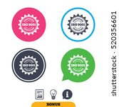 iso 9001 certified sign icon.... | Shutterstock .eps vector #520356601