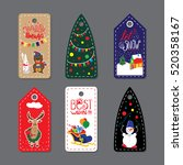 Merry Christmas Label Badge....