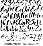 hand drawn font made by dry... | Shutterstock .eps vector #520362379