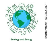 earth and energy sources.... | Shutterstock .eps vector #520366207