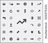 arrows icons universal set for... | Shutterstock .eps vector #520370101