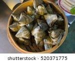 zongzi  pyramid shaped... | Shutterstock . vector #520371775