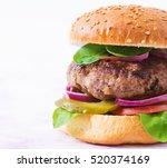big sandwich   hamburger burger ... | Shutterstock . vector #520374169