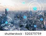 icons of wifi  internet ... | Shutterstock . vector #520375759