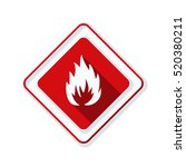 flammable danger sign | Shutterstock .eps vector #520380211