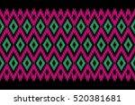 geometric ethnic pattern design ... | Shutterstock .eps vector #520381681