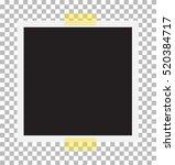 photo frame on sticky tape.... | Shutterstock .eps vector #520384717