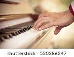 close up man hand musician... | Shutterstock . vector #520386247
