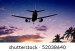 airplane at sunset | Shutterstock . vector #52038640