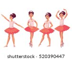 graceful pretty young ballerina ... | Shutterstock .eps vector #520390447
