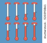 vector goal thermometers at... | Shutterstock .eps vector #520393861