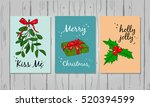 christmas colorful greeting... | Shutterstock .eps vector #520394599