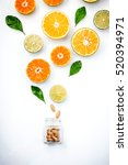 colorful of citrus fruits  cut... | Shutterstock . vector #520394971