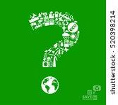 question mark made of little... | Shutterstock .eps vector #520398214