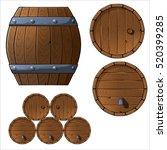 set of wooden barrels....