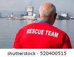 rescue team waiting to save... | Shutterstock . vector #520400515