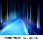 virtual projection   tunnel.... | Shutterstock .eps vector #520400737