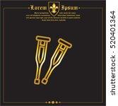 web line icon. crutches | Shutterstock .eps vector #520401364