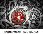 mechanism  clockwork with one... | Shutterstock . vector #520402765