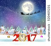 happy new year and merry... | Shutterstock .eps vector #520405231