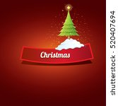 christmas vector red glossy...   Shutterstock .eps vector #520407694