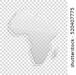 african continent transparent... | Shutterstock .eps vector #520407775