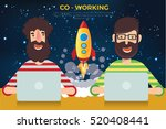 co   working concept design... | Shutterstock .eps vector #520408441