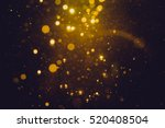 gold abstract bokeh background | Shutterstock . vector #520408504
